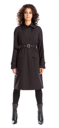 Max Studio brushed back bonded trench coat