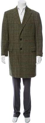 Burberry Plaid Wool Overcoat