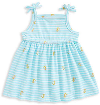 First Impressions Little Girl's Mermaid-Print Cotton Dress