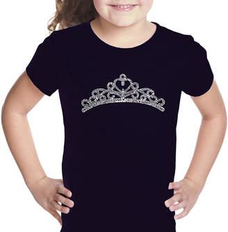 LOS ANGELES POP ART Los Angeles Pop Art Princess Tiara Graphic T-Shirt Girls