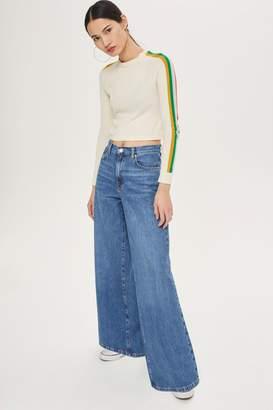 Topshop MOTO Light Blue Wide Leg Jeans