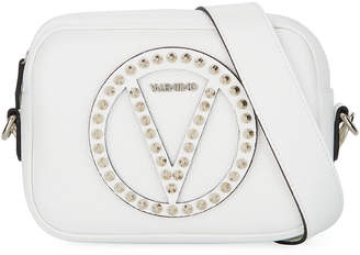 Valentino By Mario Valentino Mia Small Studded Dolaro Leather Crossbody Bag