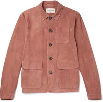 Oliver Spencer Slim-Fit Suede Shirt Jacket