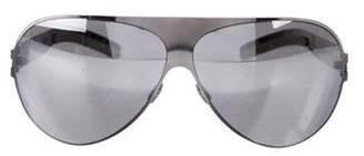Mykita Rimless Mirrored Sunglasses