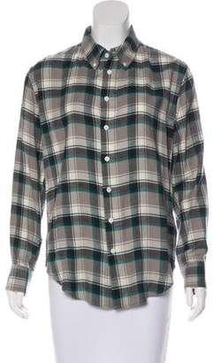 Band Of Outsiders Plaid Flannel Top