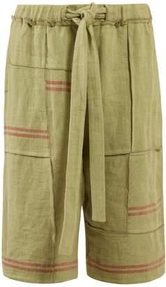 J.W.Anderson Drawstring-waist linen-canvas shorts