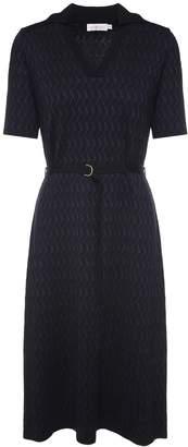 Tory Burch Dara Wool-knit Belted Dress