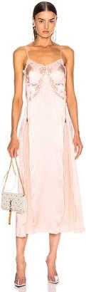 Stella McCartney Silk Satin Midi Dress in Chalk Pink | FWRD