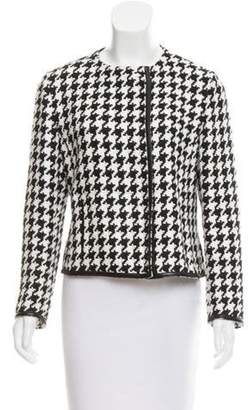 Akris Houndstooth Linen Jacket Black Houndstooth Linen Jacket