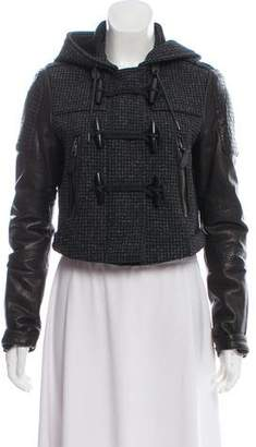 Burberry Leather-Accented Toggle Jacket