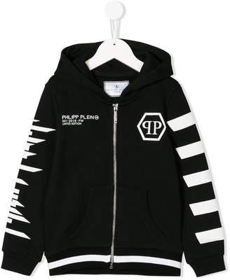 Philipp Plein Junior printed zip hoodie
