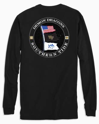 Southern Tide Gameday Nautical Flags Long Sleeve T-shirt - Wake Forest University