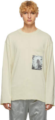 Song For The Mute Beige Rock Cropped Pullover Sweater