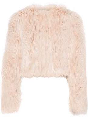 RED Valentino Cropped Faux Fur Jacket