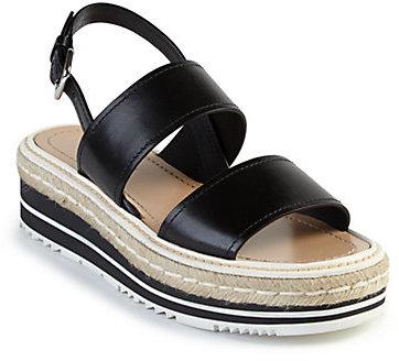 pradaPrada Microsole Leather Double-Band Sandals