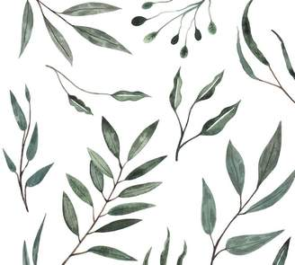 Pottery Barn Watercolor Leaves Wall Decal
