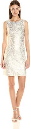 Chetta B Women's Sequin Lace Shift Dress