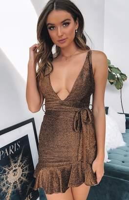 Beginning Boutique Precious Love Dress Bronze