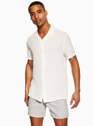 Topman Light Grey Stripe Pull On Shorts