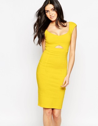 Vesper Sienna Midi Dress with Keyhole Cut-Out $57 thestylecure.com