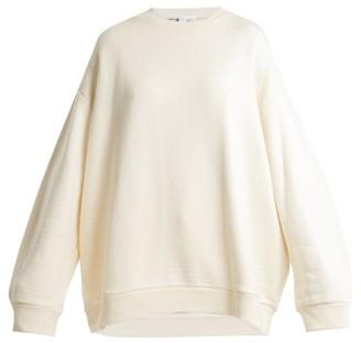 Raey Crew Neck Japanese Jersey Sweatshirt - Womens - Ivory