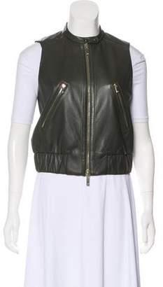Diane von Furstenberg Sleeveless Leather Vest