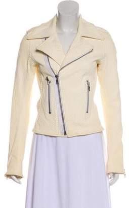 RtA Denim Textured Leather Jacket