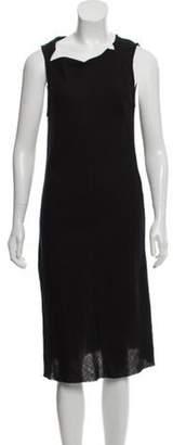 Ann Demeulemeester Virgin Wool Midi Dress Black Virgin Wool Midi Dress