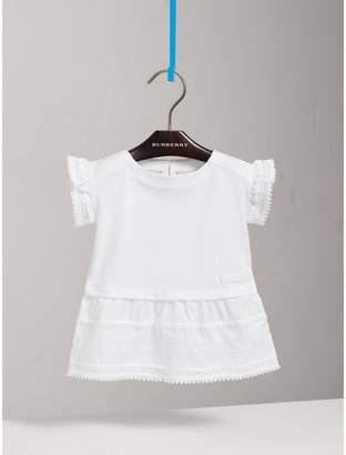 Burberry Lace Detail Cotton Dress