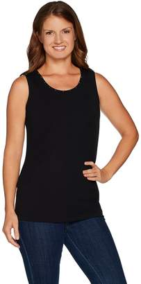 Belle By Kim Gravel Belle by Kim Gravel TripleLuxe Embellished Scoop Neck Tank