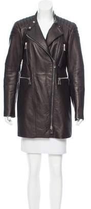 Belstaff Leather Biker Coat
