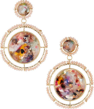Natasha Accessories Limited Lucite Beaded Drop Earrings