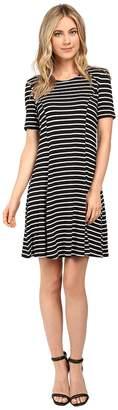 Culture Phit Elenor Striped Short Sleeve Dress Women's Dress