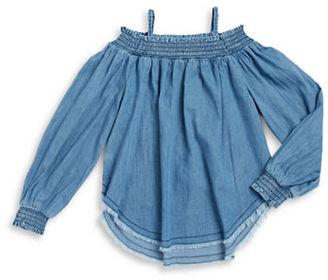 Hudson Jeans Girls 7-16 Girls Smocked Top $49 thestylecure.com