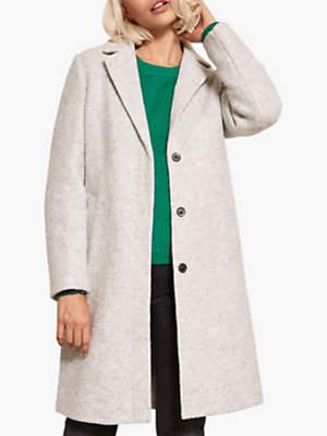 Mint Velvet Textured Boyfriend Coat, Grey