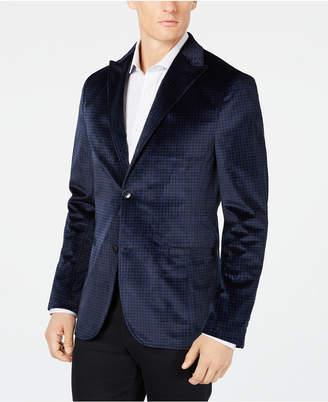 Ryan Seacrest Distinction Men's Slim-Fit Check Velvet Blazer