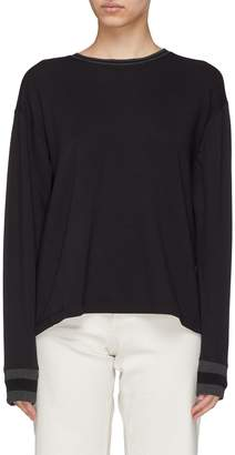 Rag & Bone 'Reily' split back long sleeve T-shirt