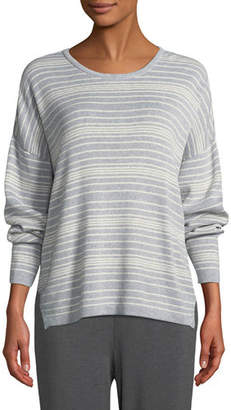 Eileen Fisher Long-Sleeve Striped Sweater, Plus Size