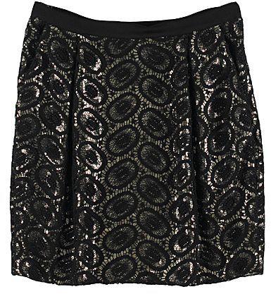 3.1 Phillip Lim Gold Shimmer & Lace Skirt