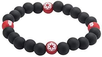 Star Wars Jewelry Women's Episode 7 Rebel Alliance Symbol Silicone Bead Stretch Bracelet