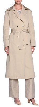 Giorgio Armani Double-Breasted Belted Trenchcoat, Beige $3,295 thestylecure.com