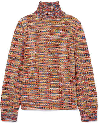 Missoni Crochet-knit Wool Turtleneck Sweater - Orange