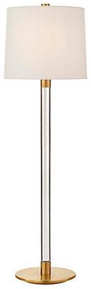 AERIN Riga Crystal Buffet Lamp - Antiqued Brass