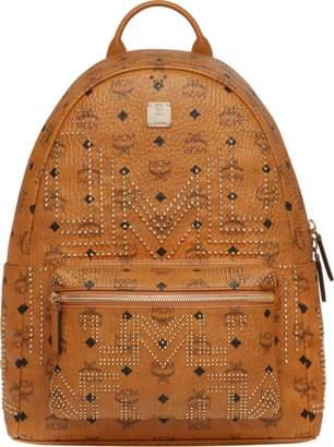 MCM Stark Backpack In Gunta M Studs Visetos
