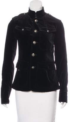 Ralph Lauren Black Label Velvet Military Jacket