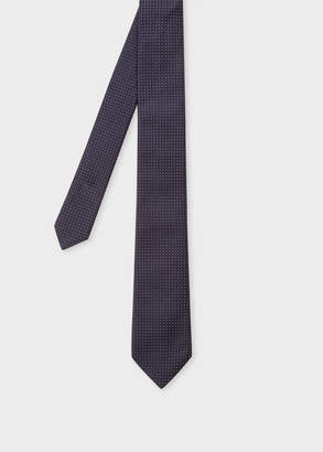 Paul Smith Men's Navy Mini Polka Dot Narrow Silk Tie