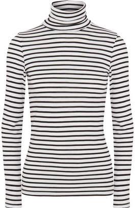 Splendid Venice Striped Stretch-jersey Turtleneck Top - Black