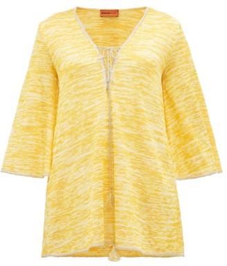 Missoni Mare - Lace Up Crochet Knit Kaftan - Womens - Yellow