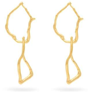 Lizzie Fortunato Surrealist Gold Plated Link Earrings - Womens - Gold