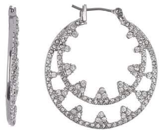 Jenny Packham Crystal Pave Hoop Earrings